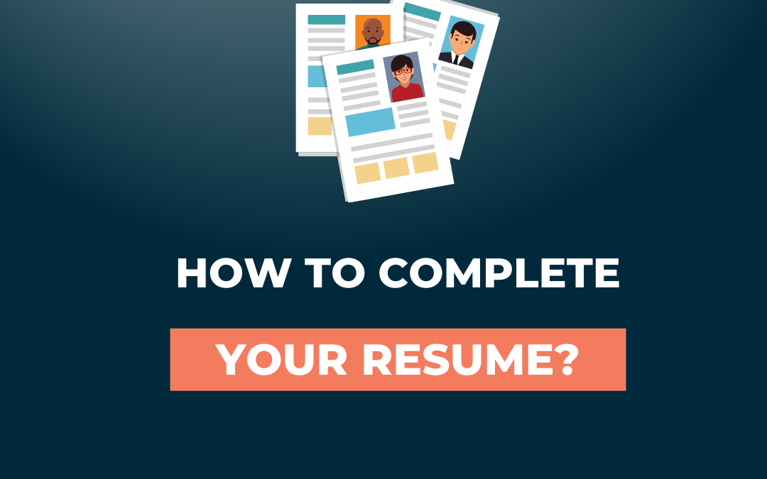 How to properly complete your player resume?