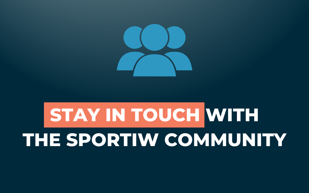 Stay in touch with the Sportiw community !